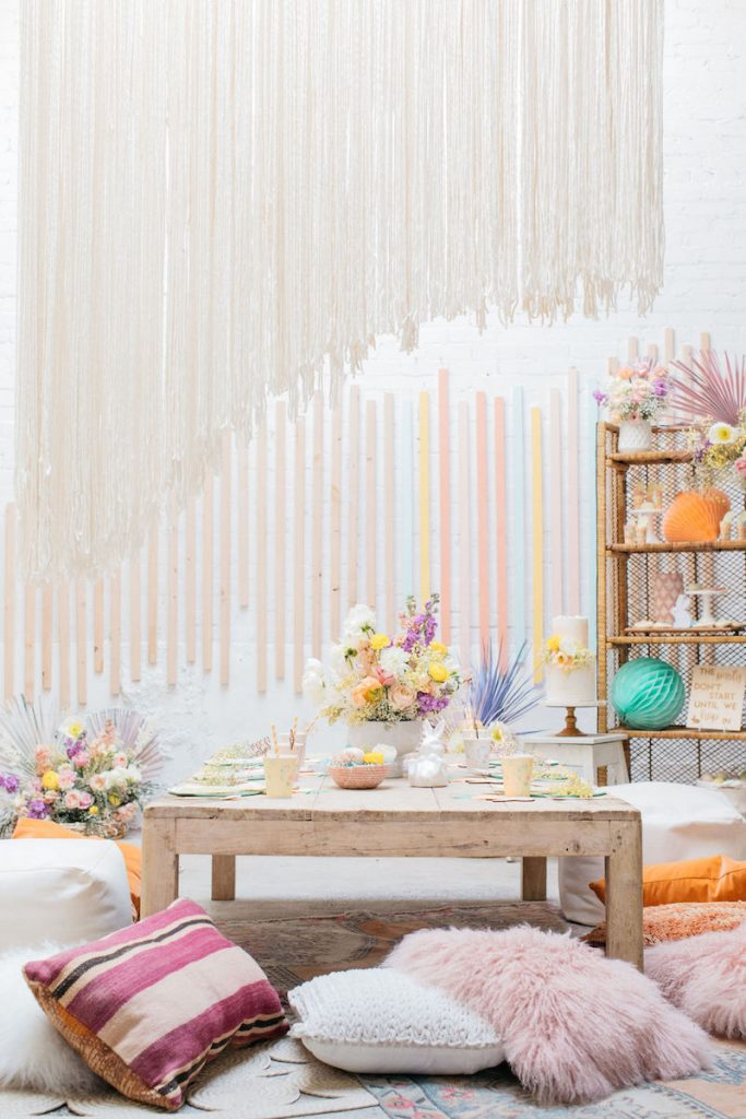 Modern + Boho Easter Party- Golden Arrow Events & Design