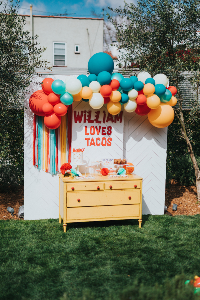 Golden Arrow Events & Design - Dragons Love Tacos Birthday